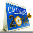 Stockfoto: 2014 Calendar Target Shows New Year Plan