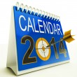 Stock Photo: 2014 Calendar Target Shows New Year Plan