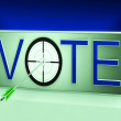 Vote Target Means Evaluation Poll Election — Stock Photo