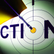 Action Shows Urgency To Succeed In Competition — Stock Photo