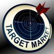 Target Market Means Targeting Customers Direct - Stock Photo