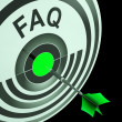 Foto de Stock  : FAQ Shows Frequently Asked Questions