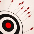 Stock Photo: Missed Target Shows Failure Unsuccessful Aim