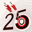 25 Shows 25th Anniversary Or Twenty fifth Birthday — Zdjęcie stockowe #22274159