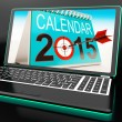Stock Photo: Calendar 2015 On Laptop Shows Annual Planning