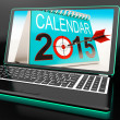 Calendar 2015 On Laptop Shows Annual Planning — Stock Photo #22274621