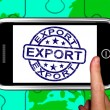 Export On Smartphone Shows International Shipping - Zdjęcie stockowe