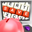 Save Keys On Monitor Shows Retails — Stockfoto