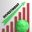 Stockfoto: Raising Investment Chart Shows Progression