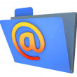 Email Folder Shows Correspondence Organised Into Groups — Stok Fotoğraf #22279207