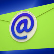 Email Icon Shows Emailing Correspondence Or Contacting — Stok Fotoğraf #22279335