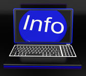 Info On Laptop Shows Knowledge — Stock Photo