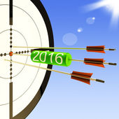 2016 Target Shows Business Plan Forecast — Stock Photo
