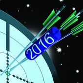 2016 Future Projection Target Shows Forward Planning — Stock Photo