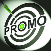 Promo Shows Discounted Advertising Price Offer — Stock Photo