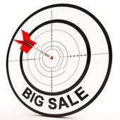 Big Sale Shows Promotions Discounts And Reductions — Stock Photo