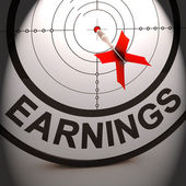 Earnings Shows Investment Profit Income And Dividends — Stock Photo