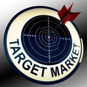 Target Market Means Targeting Customers Direct — Stock Photo