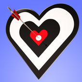 Heart Target Shows Winning Perfect Sweetheart — Stock Photo
