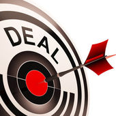 Deal Shows Bargain Or Partnership Agreement — Stock Photo
