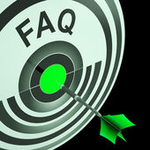 FAQ Shows Frequently Asked Questions — Stock Photo