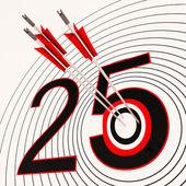 25 Shows 25th Anniversary Or Twenty fifth Birthday — Stock Photo