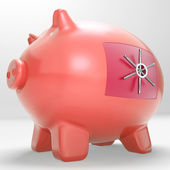 Safe Piggy Shows Restricted Permission Money Box — Stock Photo