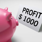 Profit Dollars Shows Revenue Earnings Piggy Savings — Stock Photo