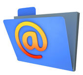 Email Folder Shows Correspondence Organised Into Groups — Stock Photo