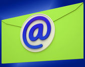 Email Icon Shows Emailing Correspondence Or Contacting — Stock Photo
