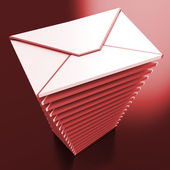 Envelopes Shows E-mail Message Inbox Mailbox — Stock Photo