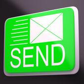 Send Envelope Shows Electronic Message Worldwide Communication — Stock Photo
