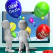Stock Photo: Best Deals Balloons Represent Bargains And Discounts Online