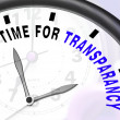 Time For Transparency Message Showing Ethics And Fairness - Stock Photo