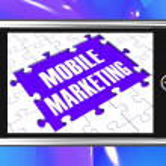 Mobile Marketing On Smartphone Showing Ecommerce — Stock Photo