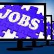 Jobs On Monitors Showing Careers — Stock Photo