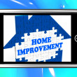 Stock Photo: Home Improvement On Smartphone Shows Hiring Contractor
