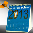 Stock Photo: 2013 Calendar Target Shows Year Organizer