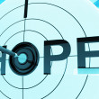 Stock Photo: Hope Target Shows Prayer And Faith Hopeful
