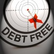 Debt Free Shows Cash And Credit Freedom - Stock Photo