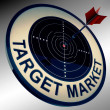 Target Market Means Aiming Strategy At Consumers — Stock Photo