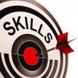 Stock Photo: Skills Target Shows Abilities Competence And Training