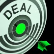 Stock Photo: Deal Shows Reduction or Bargain