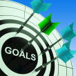 Goals On Dartboard Showing Future Plans — Stock Photo