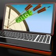 Stock Photo: 2016 Arrows On Laptop Shows Future Expectations And Resolutions