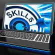 Skills On Laptop Shows Great Abilities — Stock Photo