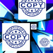 Copy On Cubes Shows Duplicates — Stock Photo