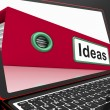 Ideas File On Laptop Showing Concepts — Foto de Stock