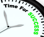Time For Success Message Showing Victory And Winning — Stock Photo