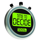 Time To Decide Message Meaning Decision And Choice — Foto Stock